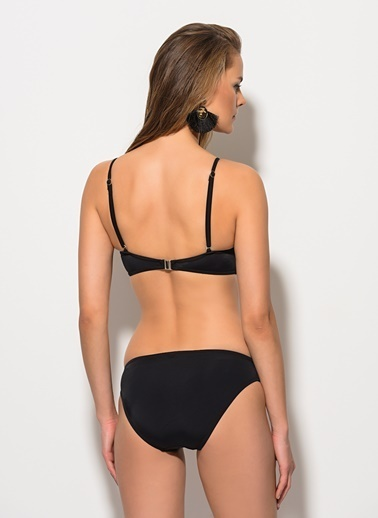 Dagi İnce Askılı Bikini Takım Siyah